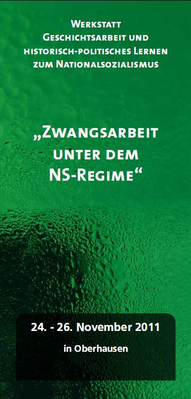 """Einladungsflyer zu dem Seminar """"Zwangsarbeit unter dem NS-Regime"""""""